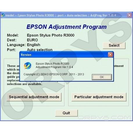 Epson Stylus Photo R3000 Adjustment Program