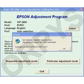 Epson WF-2860, WF-2865, XP-5100, XP-5105 Adjustment Program