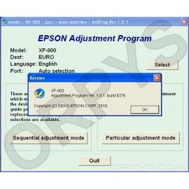 Epson XP-900 Adjustment Program