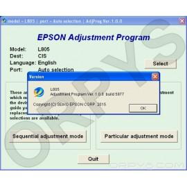 Epson L805 Adjustment Program
