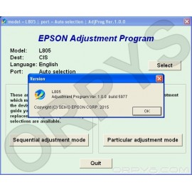 Epson L805 Adjustment Program