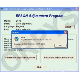 Epson L575 Adjustment Program