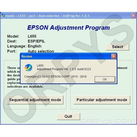 Epson L655 Adjustment Program