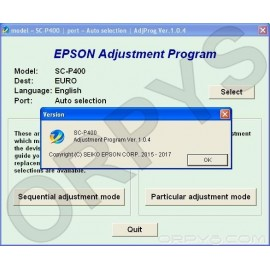 Epson Sure Color SC-P400 Adjustment Program