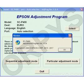 Epson Sure Color SC-P400 Adjustment Program