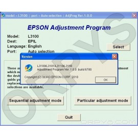 Epson L3100, L3101, L3110, L3150 Adjustment Program