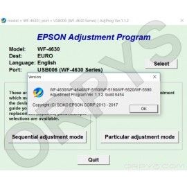 Epson WF-4630, WF-4640, WF-5110, WF-5190, WF-5620, WF-5690 Adjustment Program