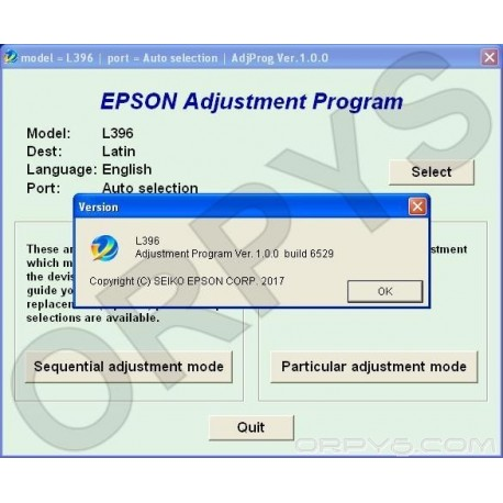 Epson L396 Adjustment Program