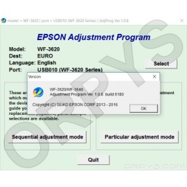 Epson WF-3620, WF-3640 Adjustment Program
