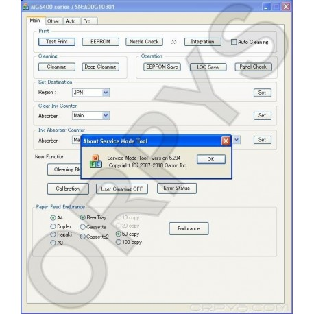 Canon Service Tool V5204 - ORPYS