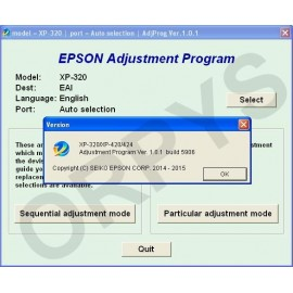 Epson XP-320, XP-420, XP-424 Adjustment Program