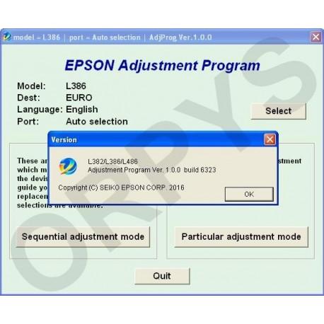 RESET EPSON L382 TÉLÉCHARGER