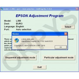 Epson L382, L386, L486 Adjustment Program