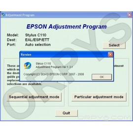 Epson C110 Adjustment Program