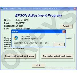 Epson Artisan 1430 Adjustment Program