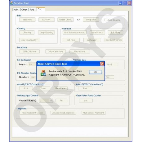 Canon Service Tool V5103 - ORPYS