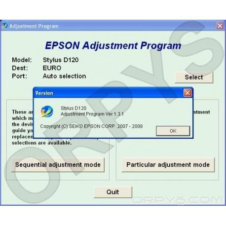 Epson D120 Adjustment Program - ORPYS