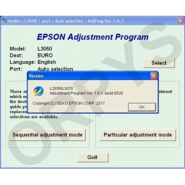 Epson L3050, L3070 Adjustment Program