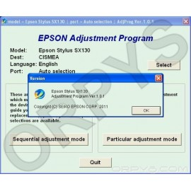 Epson SX130 Adjustment Program