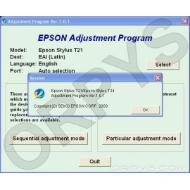Epson T21, T24 Adjustment Program