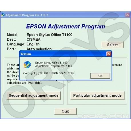 Epson T1100 Adjustment Program