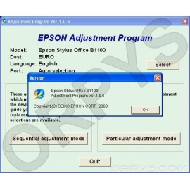 Epson B1100 Adjustment Program