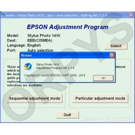 Epson Photo 1410 Adjustment Program
