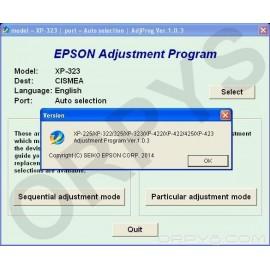 Epson XP-225, XP-322, XP-323, XP-325, XP-422, XP-423, XP-425 Adjustment Program