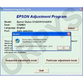 Epson SX420W, SX425W Adjustment Program