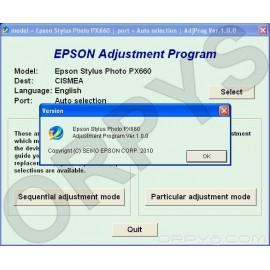Epson PX660 Adjustment Program