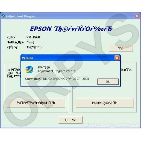 Epson PM-T960 Adjustment Program