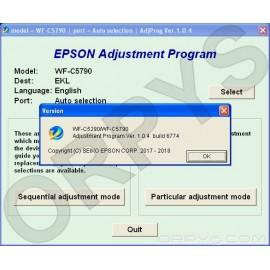 Epson WF-C5290, WF-C5790 Adjustment Program