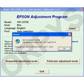 Epson WF-C5290, WF-C5790 Adjustment Program
