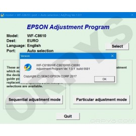 Epson WF-C8190, WF-C8610, WF-C8690 Adjustment Program