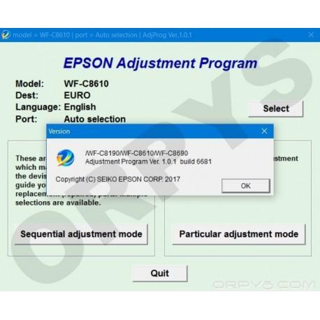 Epson WF-C8190, WF-C8610, WF-C8690 Adjustment Program