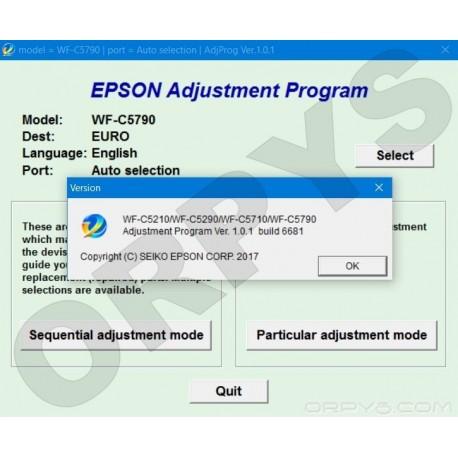 Epson WF-C5210, WF-C5290, WF-C5710, WF-C5790 Adjustment Program - ORPYS