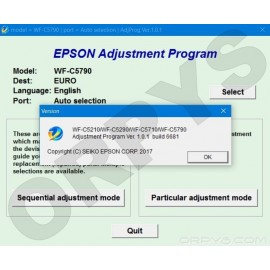Epson WF-C5210, WF-C5290, WF-C5710, WF-C5790 Adjustment Program