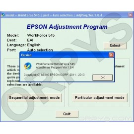 Epson WorkForce 545, 645 Adjustment Program