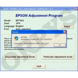 Epson EP-709A Adjustment Program