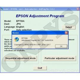 Epson EP-709A Adjustment Program