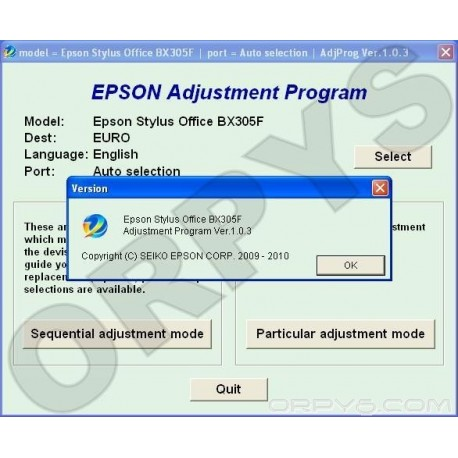 Epson BX305F Adjustment Program