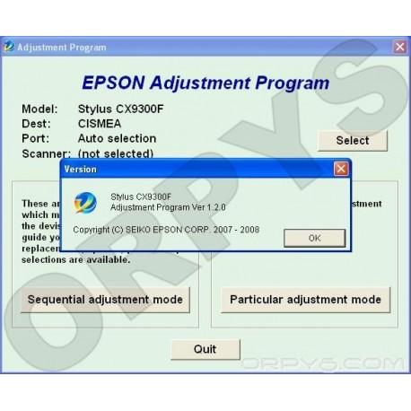 Epson CX9300F Adjustment Program