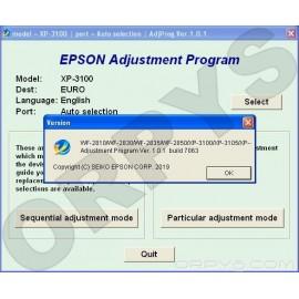 Epson XP-3100, XP-3105, XP-4100, XP-4105, WF-2810, WF-2830, WF-2835, WF-2850 Adjustment Program