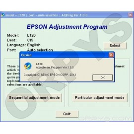 Epson L120 Adjustment Program