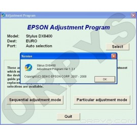 Epson DX8400 Adjustment Program