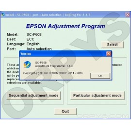 Epson SureColor SC-P608 Adjustment Program