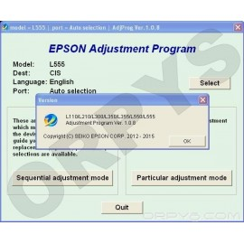 Epson L110, L210, L300, L350, L355, L550, L555 Adjustment Program
