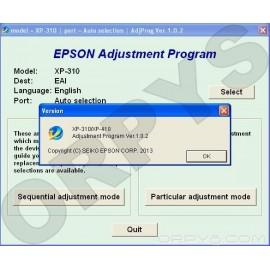 Epson XP-310, XP-410 Adjustment Program